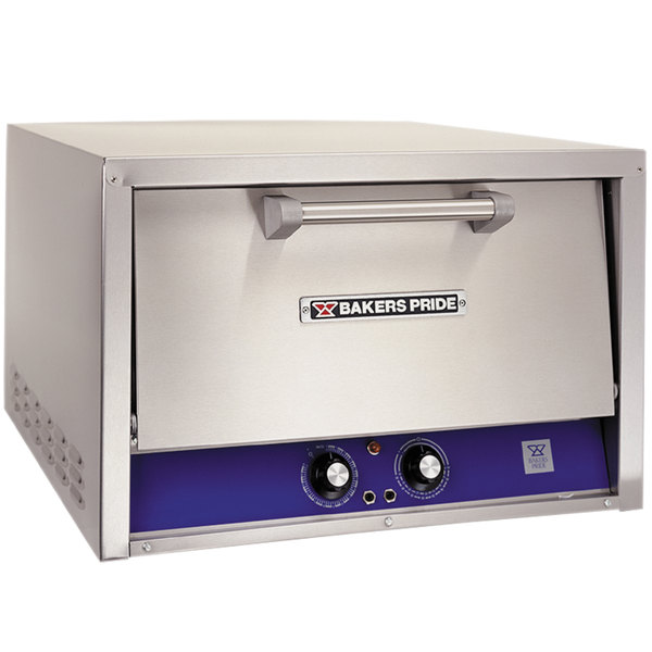 Bakers Pride P-22S-BL Brick Lined Electric Countertop Pizza and Pretzel Oven - 220-240V, 1 Phase, 3600W