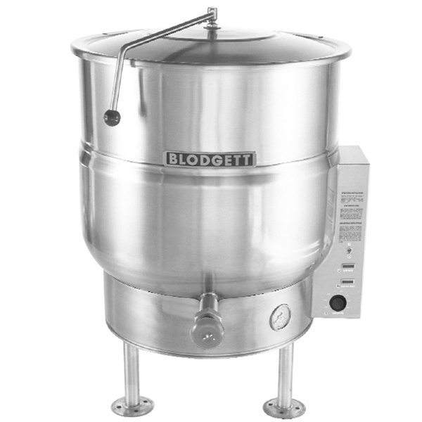 Blodgett KLS-80E 80 Gallon Stationary Tri-Leg Steam Jacketed Electric Kettle - 240V, 3 Phase, 18 kW Main Image 1