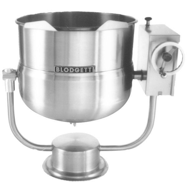 Blodgett KPT-80DS 80 Gallon Direct Steam Tilting Pedestal Base Steam Jacketed Kettle Main Image 1