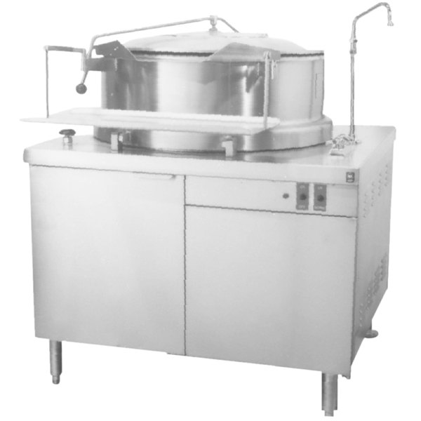 """Blodgett KCH-60DS 60 Gallon Hydraulic Tilting Steam Jacketed Direct Steam Kettle with 42"""" Cabinet Base Main Image 1"""