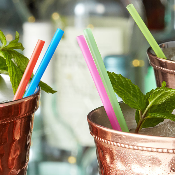 """Choice 5"""" Neon Beverage Stirrer / Sip Straw Main Image 2"""
