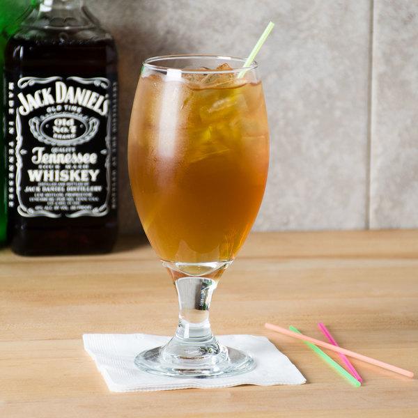 """Choice 5"""" Neon Beverage Stirrer / Sip Straw"""