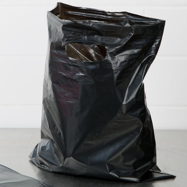 12 Quot X 15 Quot 1 5 Mil Black Unprinted Extra Heavy Duty Plastic