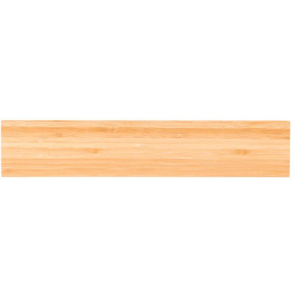 "Mercer Culinary M30730BM 12"" Bamboo Magnetic Knife Holder / Strip"