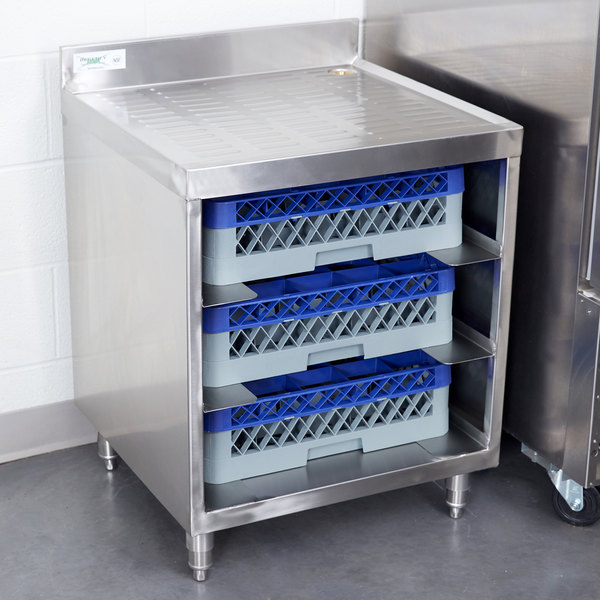 "Regency Stainless Steel Corrugated Top Glass Rack Storage Unit - 23"" x 24"""