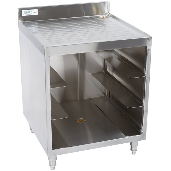 Add Convenient Underbar Storage And Work Space With This Regency Stainless  Steel Corrugated Top Glass Rack Storage Unit.