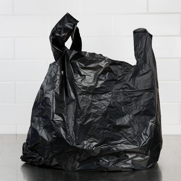 20 x 10 x 36 87 mil black unprinted heavy duty plastic for Plastic t shirt bag