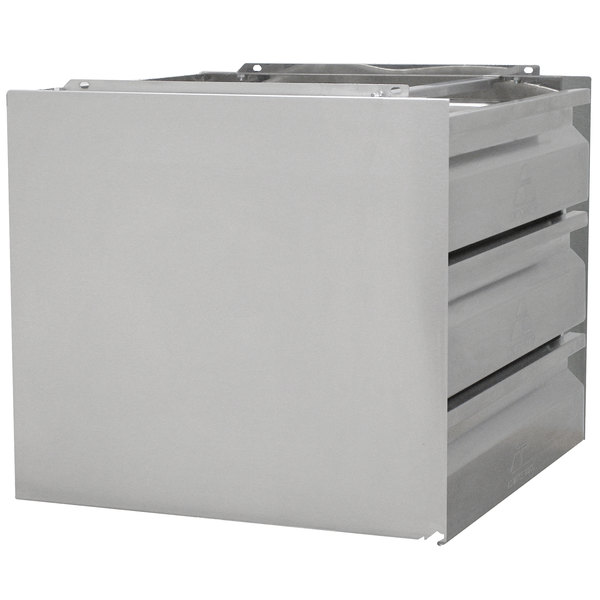 """Advance Tabco ADT-3-2020 3 Tier Drawer Assembly with Side Panels - 20"""" x 20"""" x 5"""" Drawers"""
