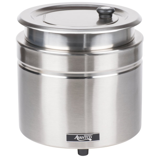 looking for a great 11 qt countertop soup warmer at a great price try this avantco w800 warmer instead it boasts a stainless steel - Soup Warmer