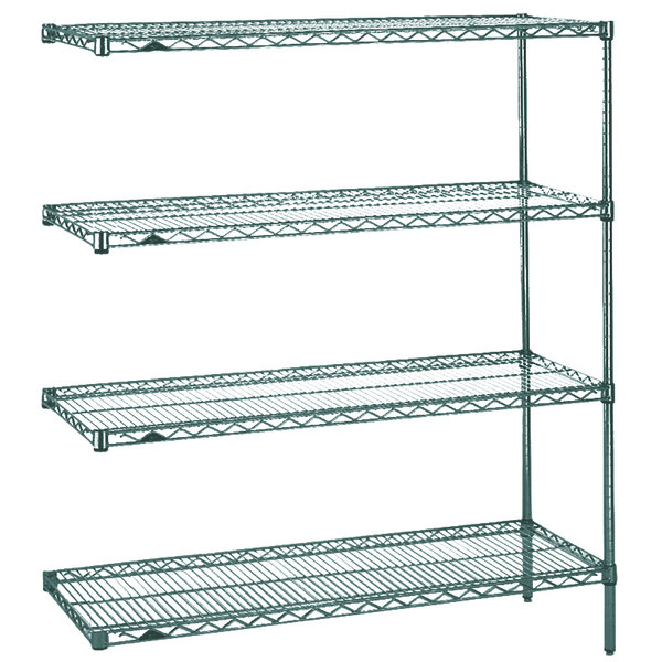 "Metro AN326K3 Super Erecta Metroseal 3 Adjustable Wire Stationary Add-On Shelving Unit - 18"" x 30"" x 63"" Main Image 1"