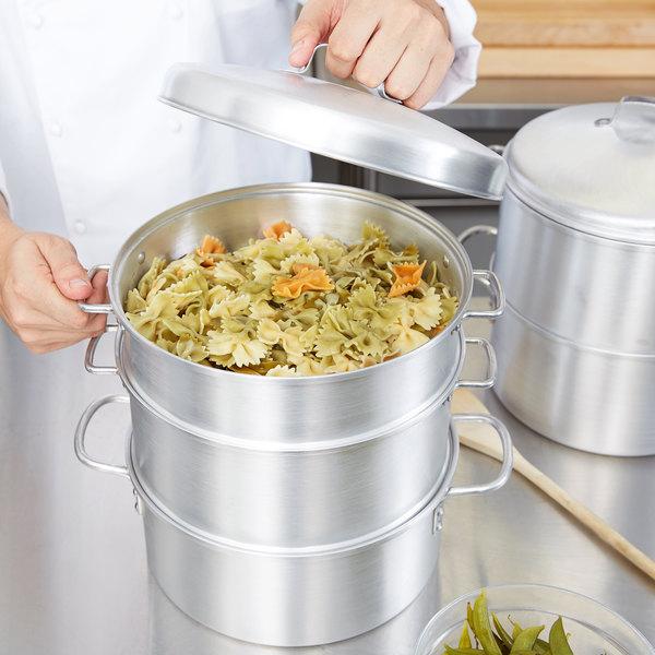 Vollrath 68125 Wear-Ever 5 Qt. 3-Tier Vegetable Steamer Set