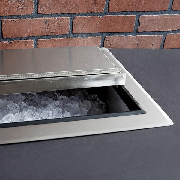 """Regency 18"""" x 24"""" Stainless Steel Drop-In Ice Bin"""