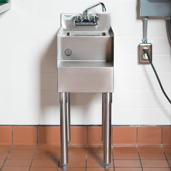 "Regency 12"" x 23"" Stainless Steel Blender Station with Dump Sink Main Image 4"