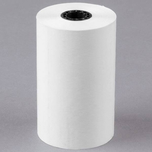 "3 1/8"" x 110' Thermal Cash Register POS Paper Roll Tape - 50/Case"