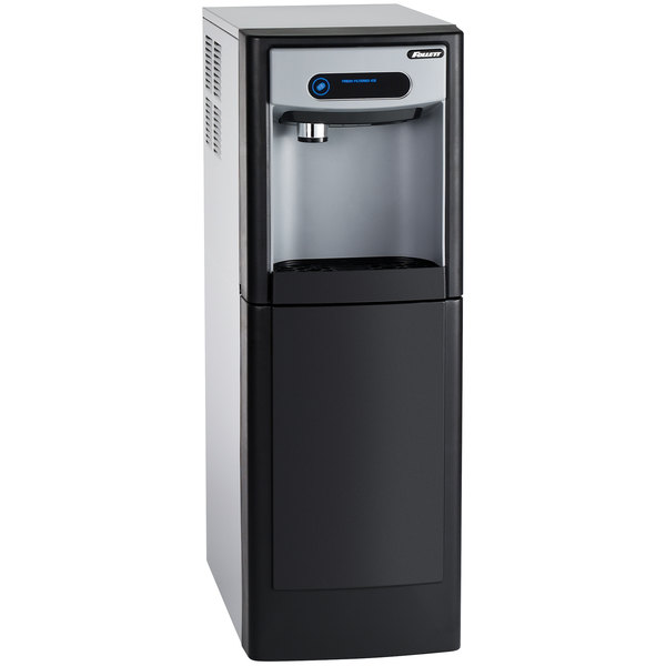 """Follett 7FS100A-NW-NF-ST-00 7 Series 14 5/8"""" Air Cooled Chewblet Free Standing Ice Maker and Dispenser - 7 lb."""