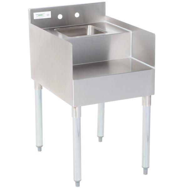 "Regency 18"" x 23"" Stainless Steel Blender Station with Dump Sink Main Image 1"