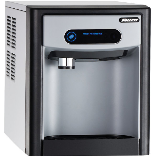 """Follett 7CI100A-NW-NF-ST-00 7 Series 14 5/8"""" Air Cooled Chewblet Countertop Ice Maker and Dispenser - 7 lb."""