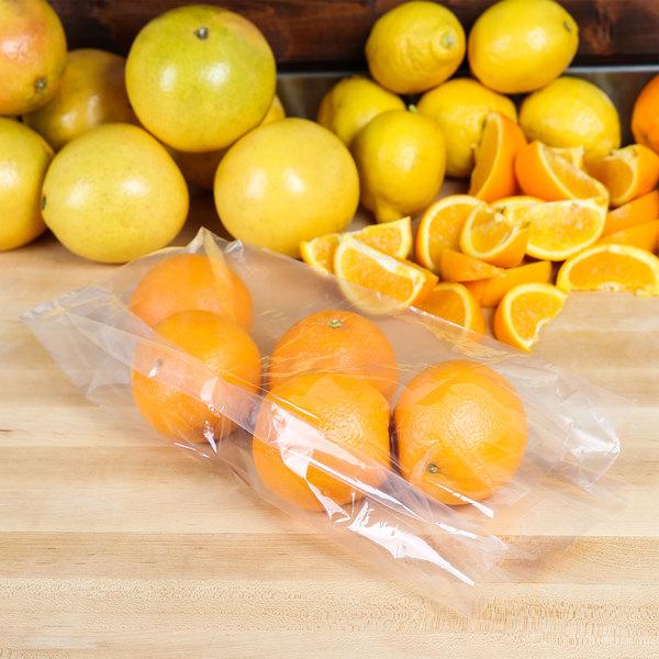 """Plastic Food Bag 5"""" x 4 1/2"""" x 15"""" 1.25 mil - 1000/Box"""