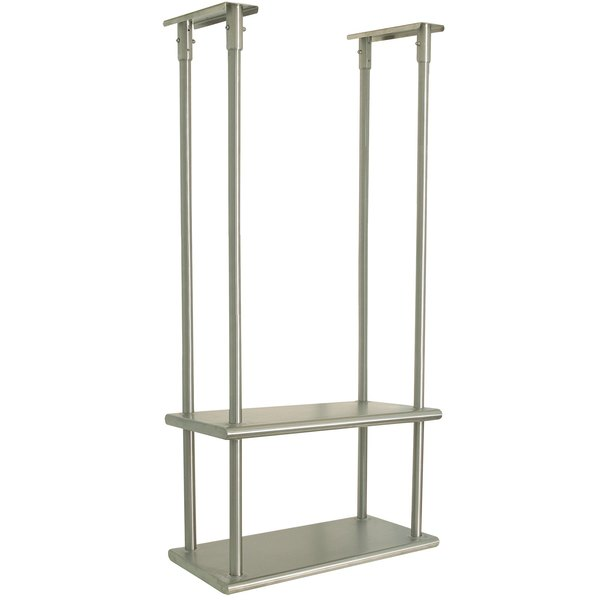 """Advance Tabco DCM-18-84 Stainless Steel Ceiling Mounted Double Shelf - 18"""" x 84"""""""