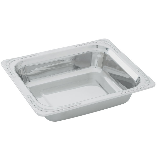 "Vollrath 8230720 Miramar 1/2 Size Decorative Food Pan - 2 3/4"" Deep"
