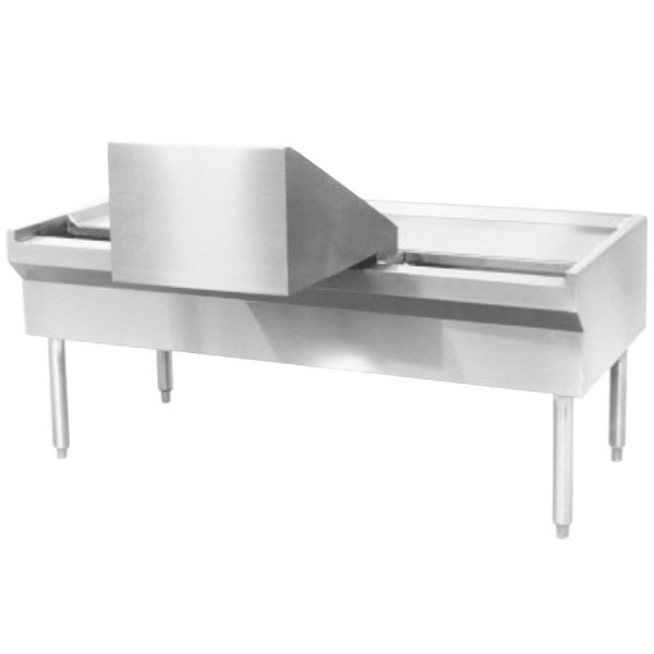 """Blodgett KT-80 80"""" Kettle Table with Sliding Tray Main Image 1"""