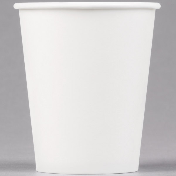Dart Solo 370W-2050 10 oz. White Poly Paper Hot Cup - 1000/Case