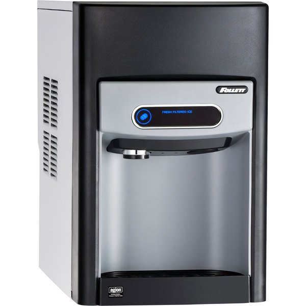 """Follett 15CI100A-NW-CF-ST-00 15 Series 14 5/8"""" Air Cooled Chewblet Countertop Ice Maker and Dispenser with Filter - 15 lb. Main Image 1"""