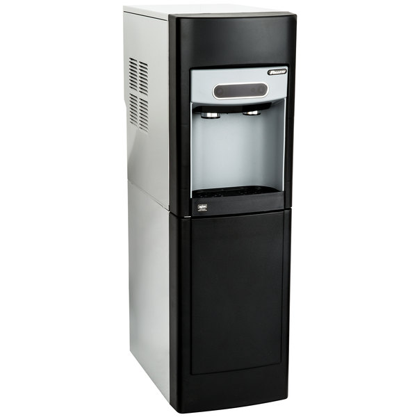 Follett 15FS100A-IW-CF-ST-00 15 Series 14 5/8 inch Air Cooled Chewblet Free Standing Ice Maker and Water Dispenser with Filter - 15 lb.