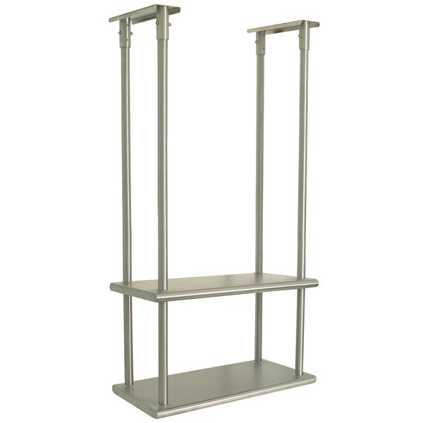 "Advance Tabco DCM-18-72 Stainless Steel Ceiling Mounted Double Shelf - 18"" x 72"""