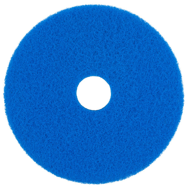 "Scrubble by ACS 53-17 Type 53 17"" Blue Cleaning Floor Pad"
