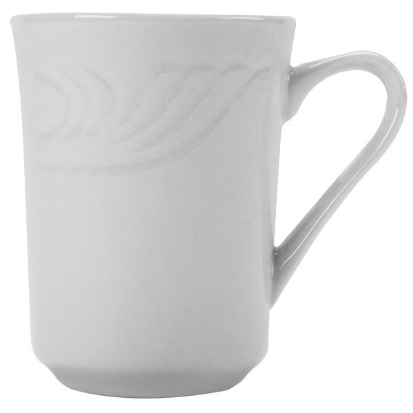 CAC RSV-17 Roosevelt 8 oz. Super White Porcelain Mug - 36/Case