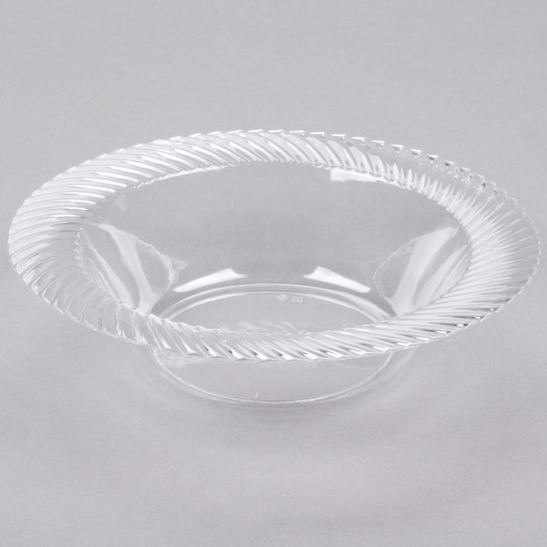 Visions Wave 12 oz. Clear Plastic Bowl  - 180/Case