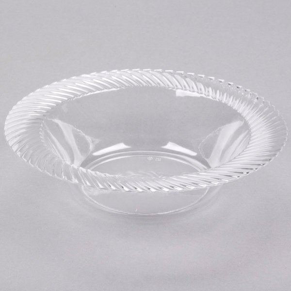Visions Wave 12 oz. Clear Plastic Bowl - 18/Pack
