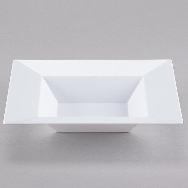 Visions Florence 12 oz. White Square Plastic Bowl - 120/Case