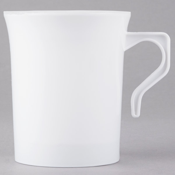 Visions 8 oz. White Plastic Coffee Mug - 8/Pack