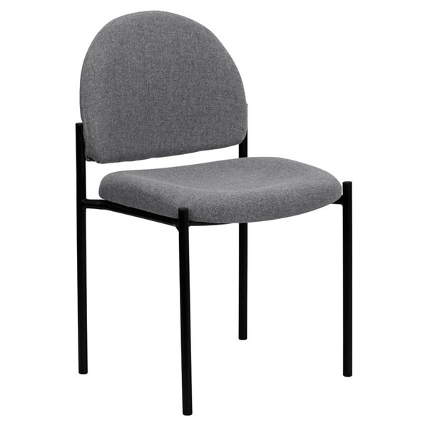 Flash Furniture BT-515-1-GY-GG Gray Fabric Stackable Side Chair Main Image 1