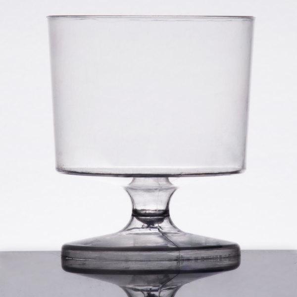 Visions 2 oz. Clear 1-Piece Plastic Wine Glass  - 240/Case