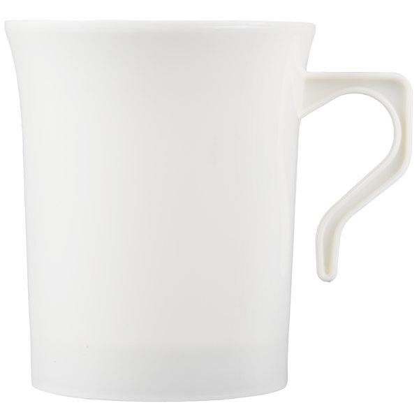 Visions 8 oz. Bone / Ivory Plastic Coffee Mug  - 192/Case