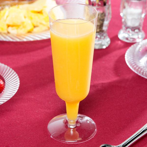 Visions 6 oz. Clear 2-Piece Plastic Champagne Flute - 120/Case