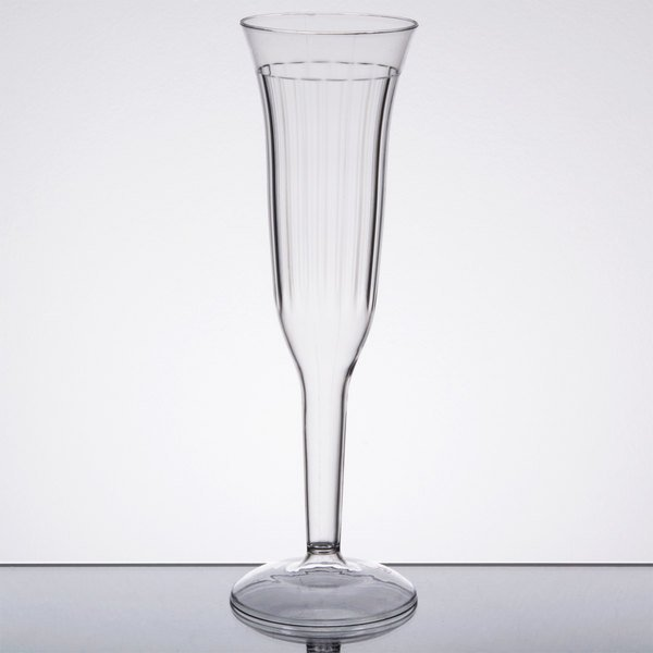 allow your guests to toast their celebration with this visions 5 oz plastic champagne flute