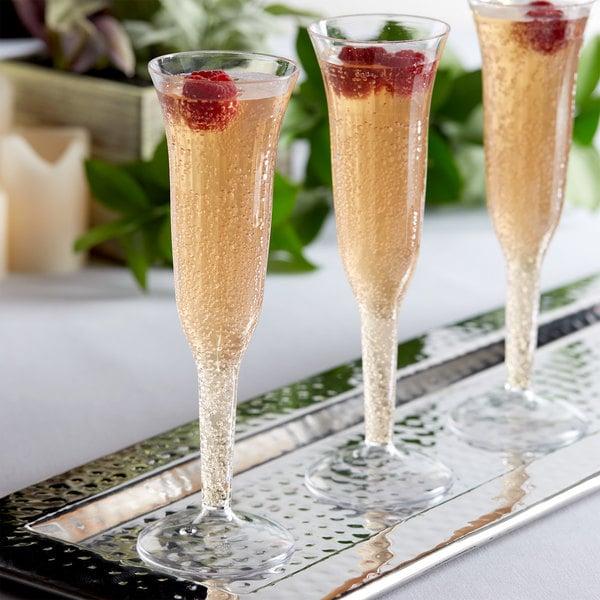 Bulk Plastic Champagne Flutes Clear 5, Glass Champagne Flutes Bulk