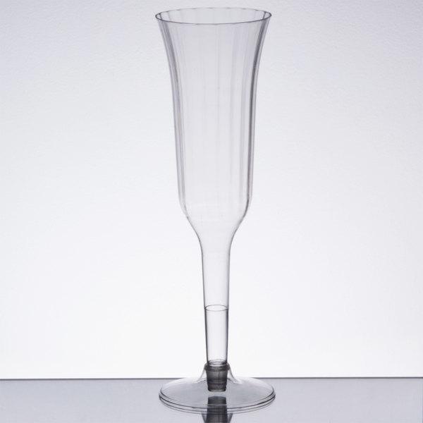 Visions 5 Oz Clear 2 Piece Plastic Champagne Flute 120case