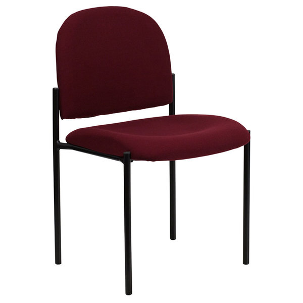 Flash Furniture BT-515-1-BY-GG Burgundy Fabric Stackable Side Chair