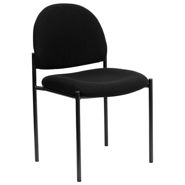 Flash Furniture BT-515-1-BK-GG Black Fabric Stackable Side Chair