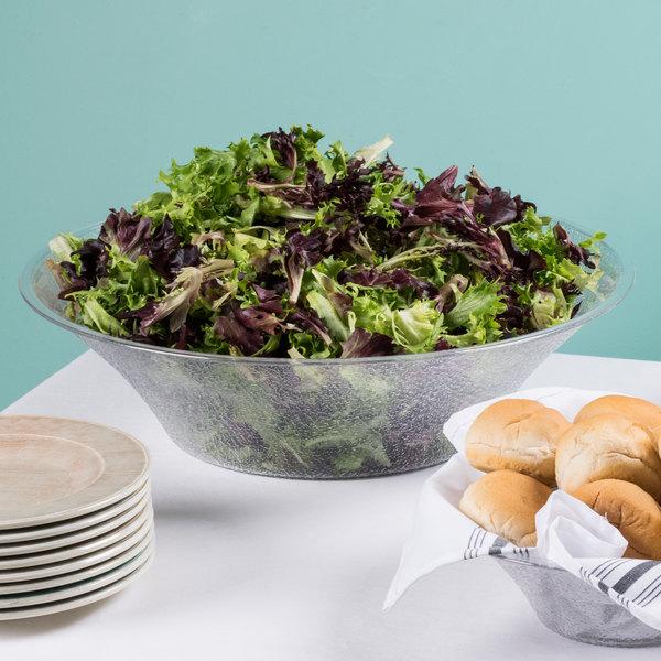 Cambro BSB18176 12.5 Qt. Pebbled Bell-Shaped Serving/Salad Bowl