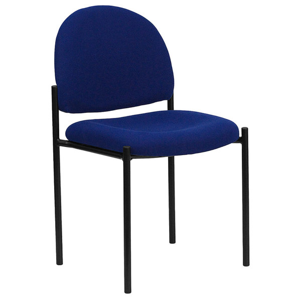 Flash Furniture BT-515-1-NVY-GG Navy Fabric Stackable Side Chair Main Image 1