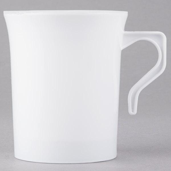 Visions 8 oz. White Plastic Coffee Mug - 192/Case