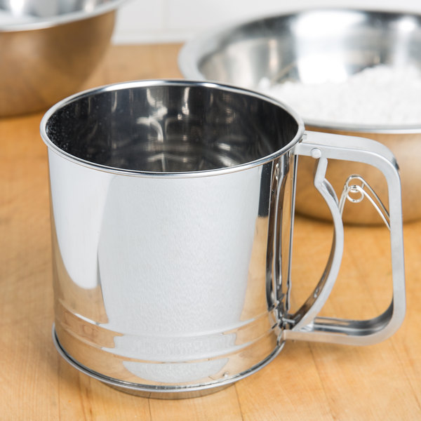 4 Cup Stainless Steel Trigger Action Flour Sifter