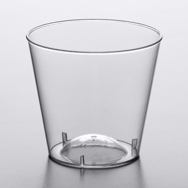 Enhance Your Beverage Presentation With This Choice 1 Oz Plastic Shot Glass