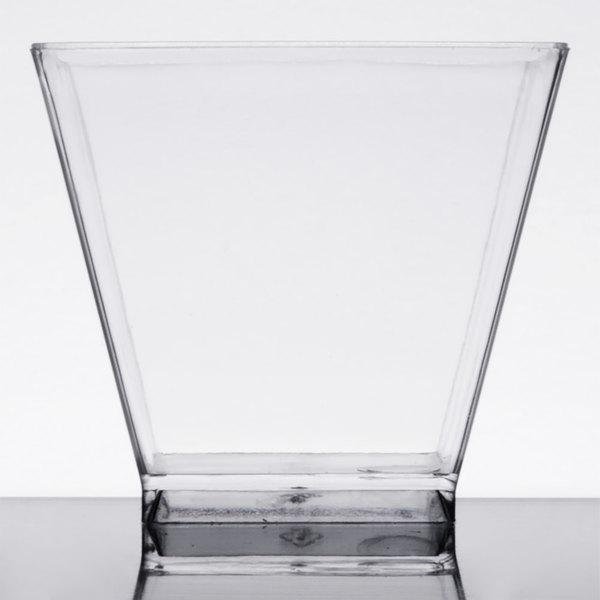 Choice 2 oz. Clear Square Plastic Shot Glass - 320/Case